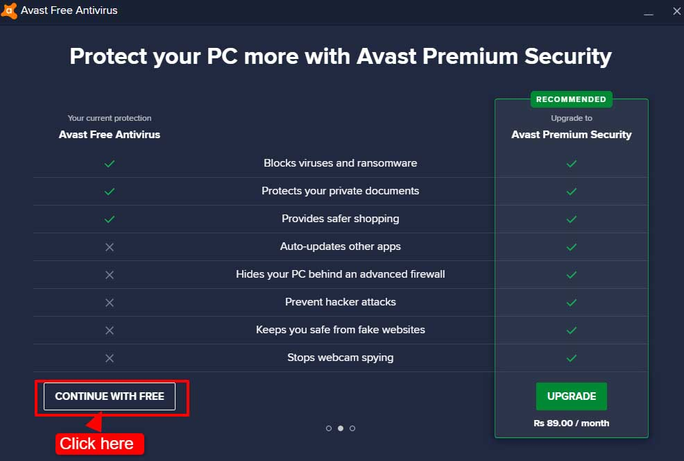 avast activation code step 2