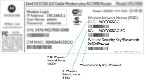 Network Security Key for Router